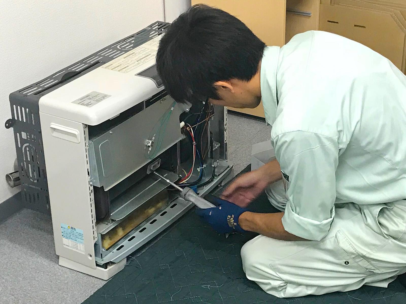FF式暖房機メンテナンス